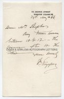 SIR WILLIAM FERGUSSON (1808-1877) Autograph Letter Signed