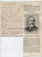 WILLIAM SYME MACKIE (1840-1896) Autograph Letter Signed